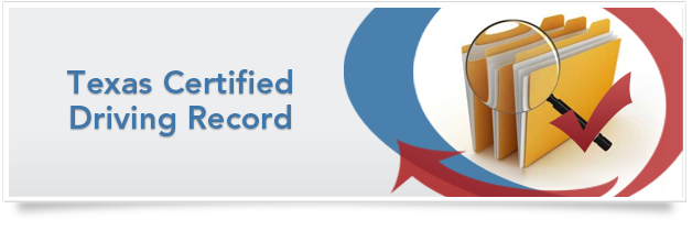 Texas Certified Driving Record
